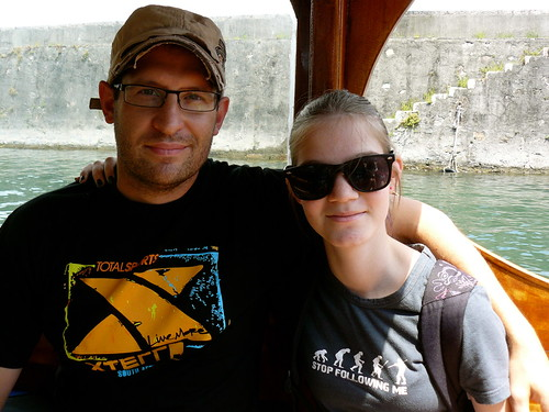 On a boat to the Isola dei Pescatori