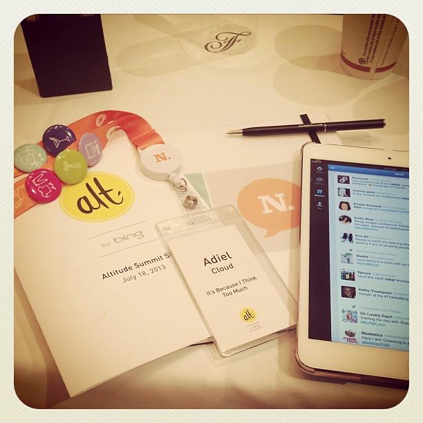 All set for @altsummit! #altsf #thanksbing #sf #altsummit