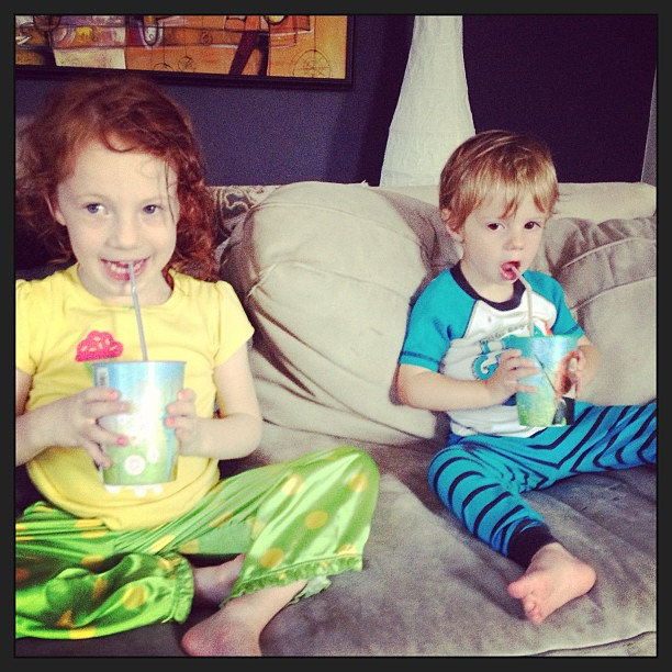 Smoothies!!!  #summerincle #siblings #yum #snack #freshforkmarket #csa