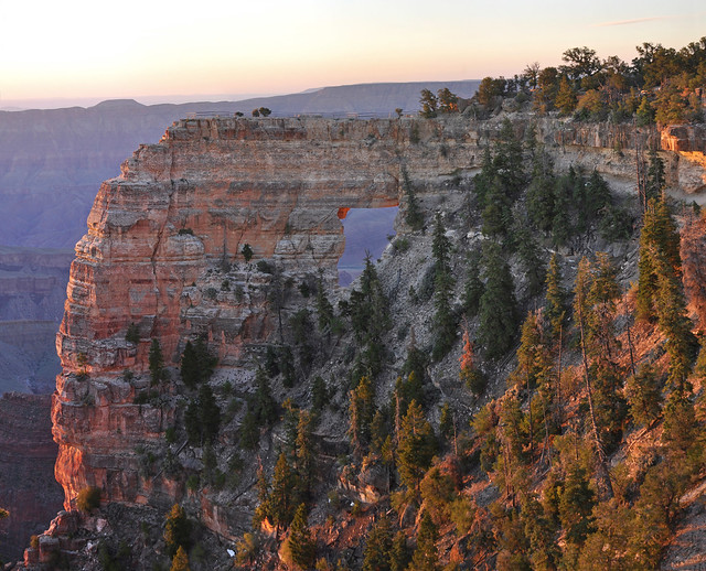 Grand Canyon National Park: North Rim Sunrise on Angel's Window. 0137