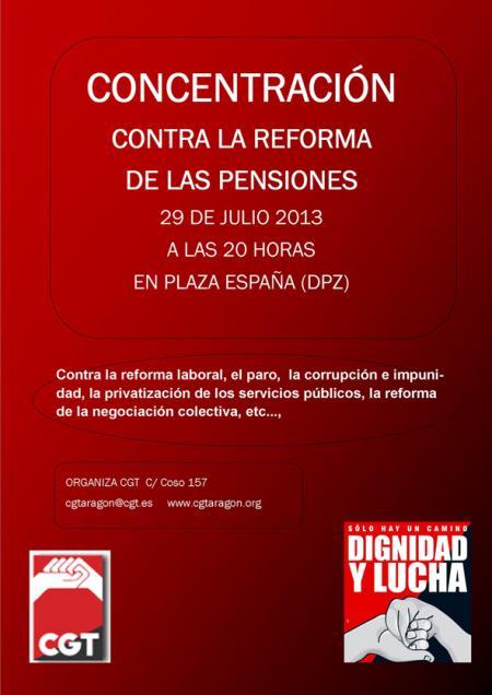 concentracio contra reforma de les pensions saragossa
