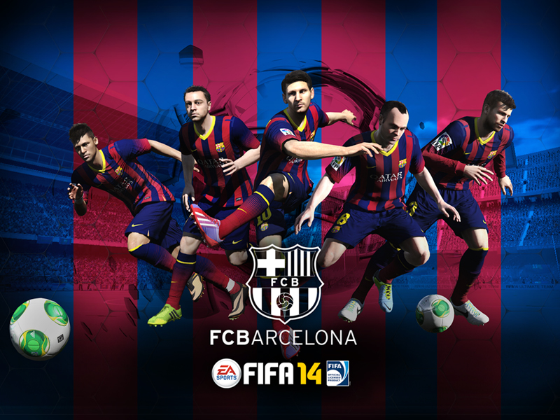 Fc barcelona fifa 14 wallpaper desktop and tablet voltagebd Choice Image