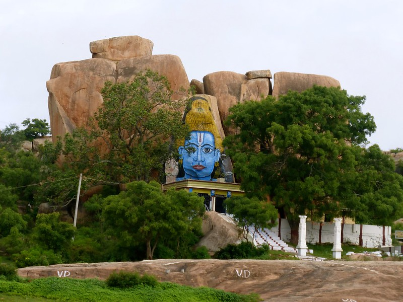 Cycling to Nandi Hills - Jain temple