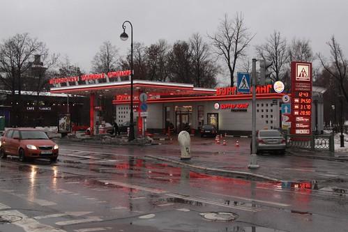 'Петербургская топливная компания' (Petersburg Fuel Company) service station in Saint Petersburg
