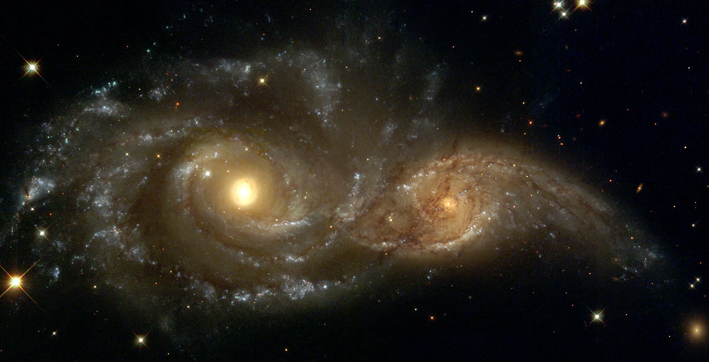 A Grazing Encounter Between Two Spiral Galaxies