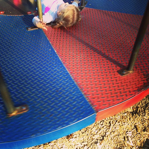 Fast #fmsphotoaday A little girl I know likes to go fast on the merry-go-round.