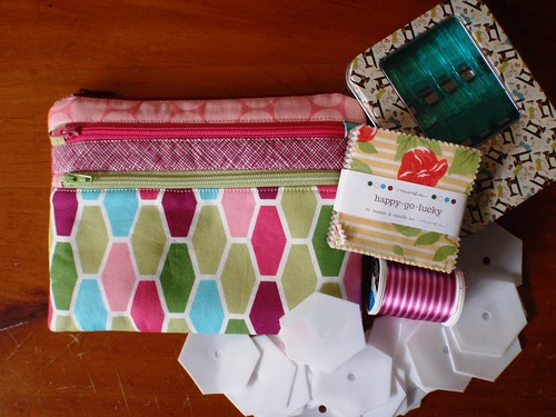 RECEIVED - Triple Zip Pouch & goodies from Squeek Crafts