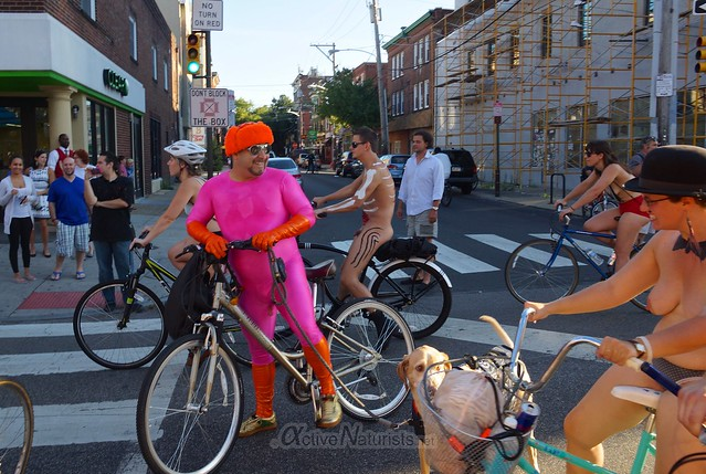 naturist 0102 Philly Naked Bike Ride, Philadelphia, PA USA