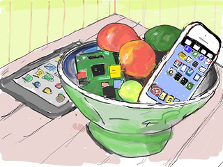 Still Life with IPod And Raspberry Pi