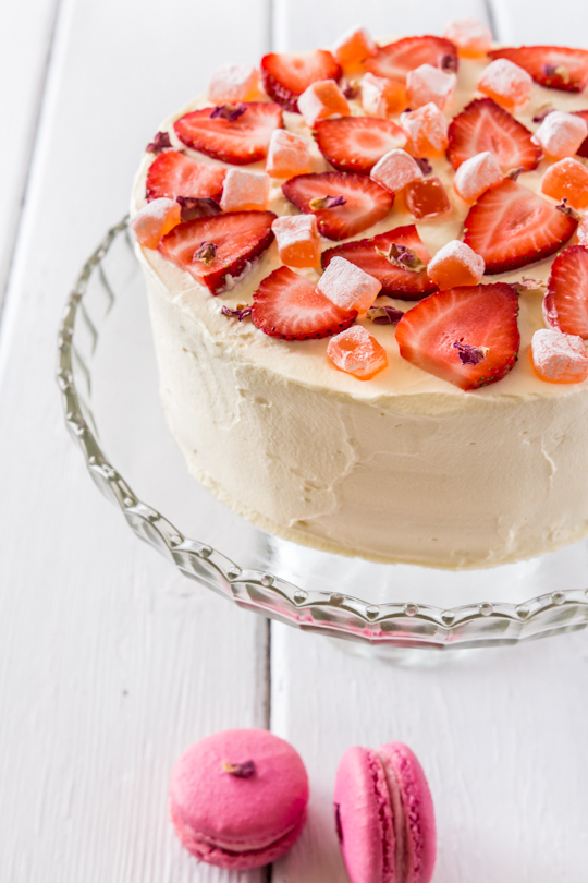 Strawberry & Rose Tres Leche Cake