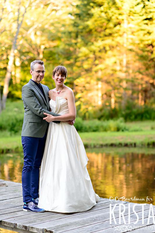 Artsy backyard Maine wedding