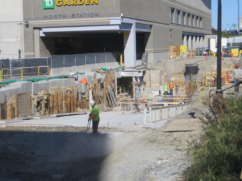 Delightful TD Garden 9/18 (New Garage ? Ramp On E Side Of Building)