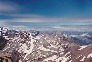 taken from Piz Gloria, Schilthorn, Switzerland, July 1986