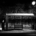 Midnight bus stop by Spyros Papaspyropoulos