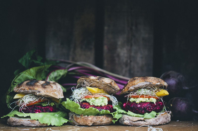 Beetroot and Feta Burgers on Food52