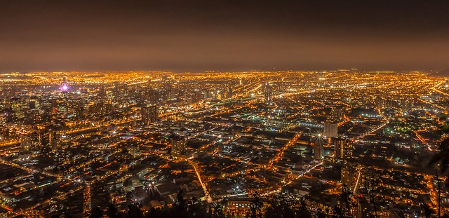 Night view on Santiago Chile