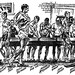 """""""An early morning visit with the Lake Washington Rowing Club,"""" 1960 cartoon by Stu Moldrem of the Seattle Post-Intelligencer (Scoll Down for Detailed Description) by The Happy Rower"""