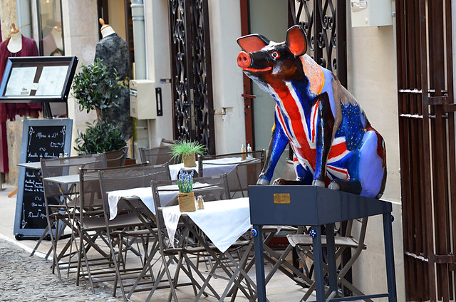 British pig in France