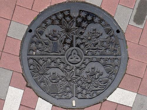Sango Nara , manhole cover 2(奈良県三郷町のマンホール2)