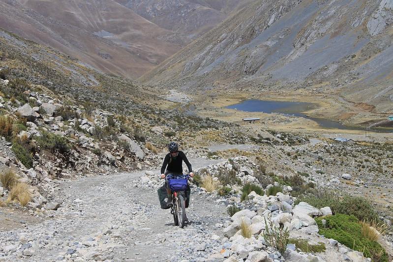 Climbing to Punta Pumacocha