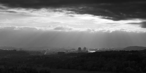 city light white black clouds river göteborg view sweden gothenburg outlook sverige kviberg götaälv canon50mmf14usm canoneos7d fjällbo