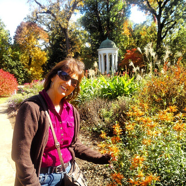 With Heather at #philbrookmuseum #gardens #igersok