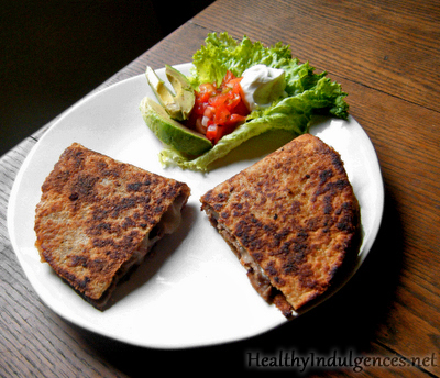 Gluten-Free, High Protein Wraps used as Quesadillas
