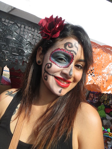 Woman with Day of the Dead Makeup