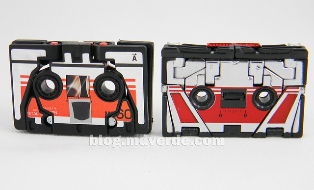 Transformers Laserbeak Masterpiece - modo alterno vs G1