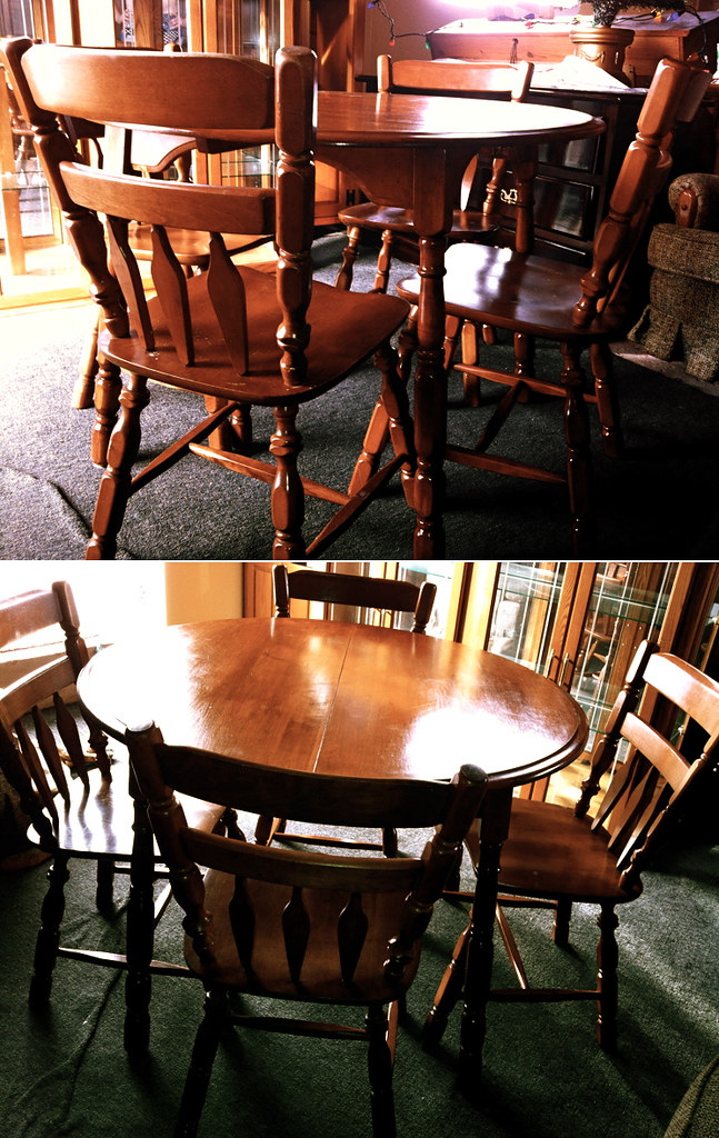 Solid Dark Wood Table And Chairs Set Trinidad Tobago For Sale