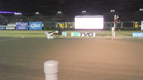 Alexie Mattosie Wins The First Race Ever In Front Of The New Building #Meadowlands