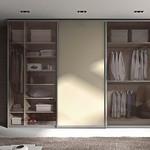 Correderas cristal y aluminio para armarios.