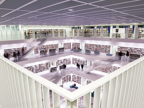 Library by jwltr freiburg