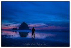 JP Canon Beach Oregon Sunset Selfie