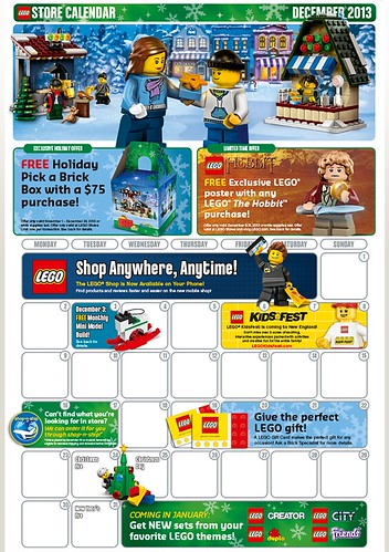 LEGO December 2013 Promotions