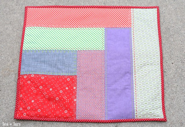 Christmas mini quilt pillow