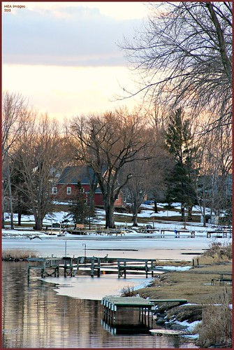 trees winter sunset snow reflection nature water wisconsin clouds canon river channel foxlake canoneos60d picmonkey:app=editor