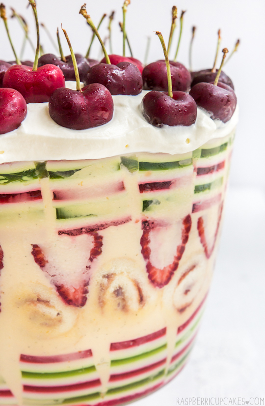 Christmas Trifle with Layered Jelly