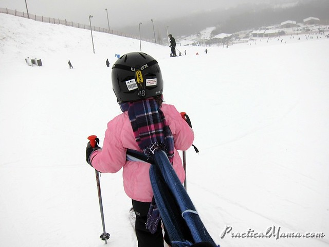 Teaching my daughter skiing