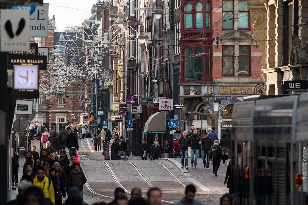 Улица в Амстердаме в Рождество
