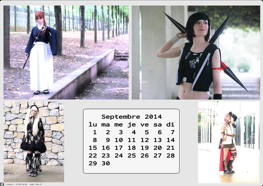 related image - Calendrier Cosplay 2014-09 - Septembre