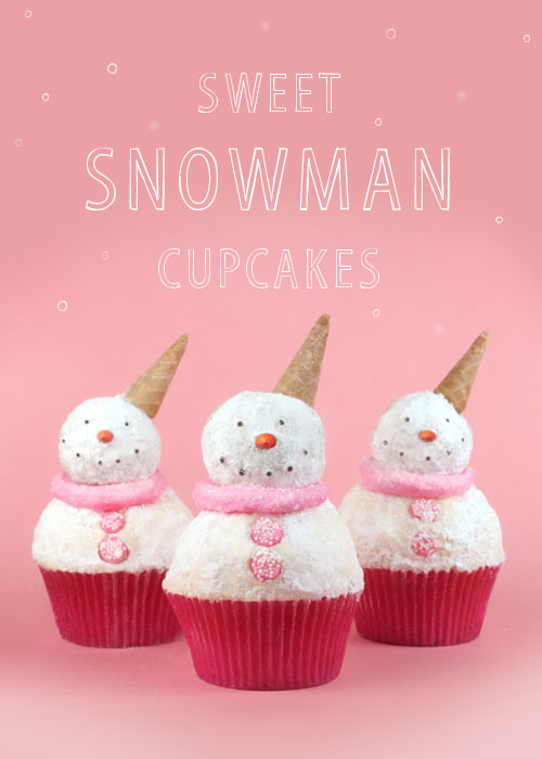 Snow Adorable Snowman Cupcakes   {Weekend Links} from HowToHomeschoolMyChild.com