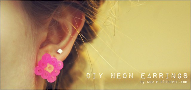 diy neon earrings 1
