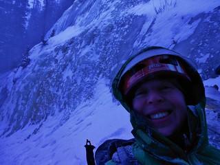 Clare at Jewell Lake Ice Climbing Wall