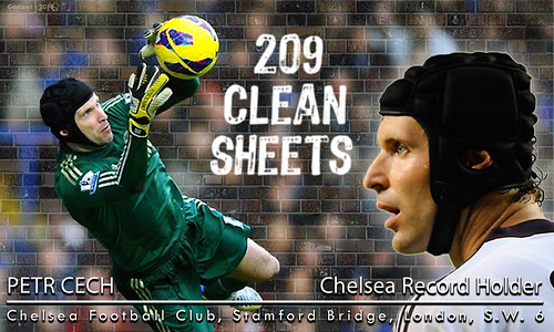 Petr Cech 209 Clean Sheets