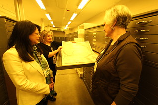 TSLAC Behind the Scenes: THF Tours the Texas State Archives 1.17.14