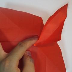 วิธีพับกระดาษพับดอกกุหลาบ 030
