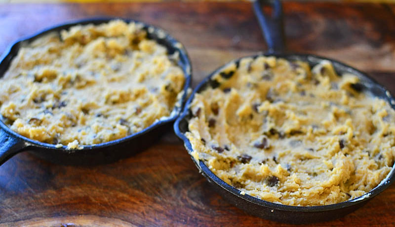 Skillet Chocolate Chip Cookie via LittleFerraroKitchen.com