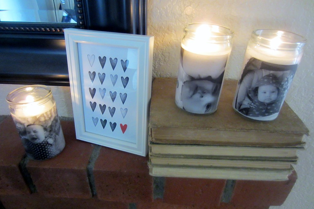 vellum photo candle holder DIY