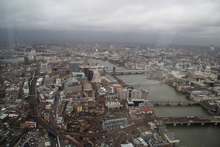 Climbing the Shard in the Rain